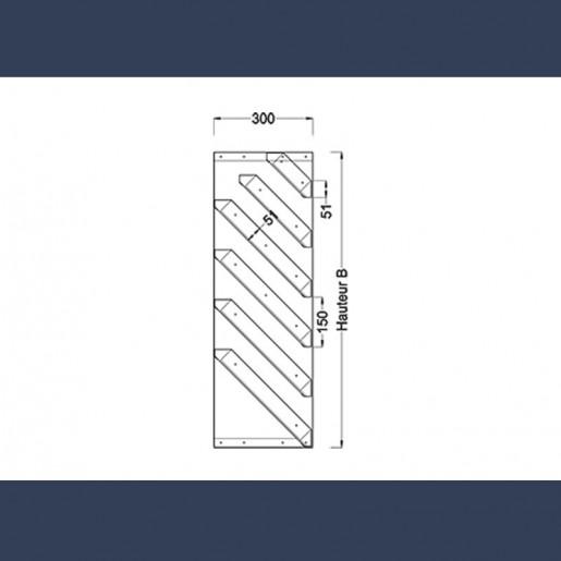 grille acoustique simple schéma