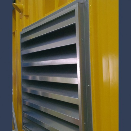 grille acoustique pour container et centrales de traitement d'air