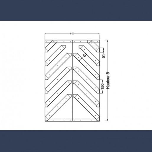 grille acoustique double schéma