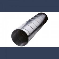 Conduit de ventilation circulaire droit en acier galvanisé