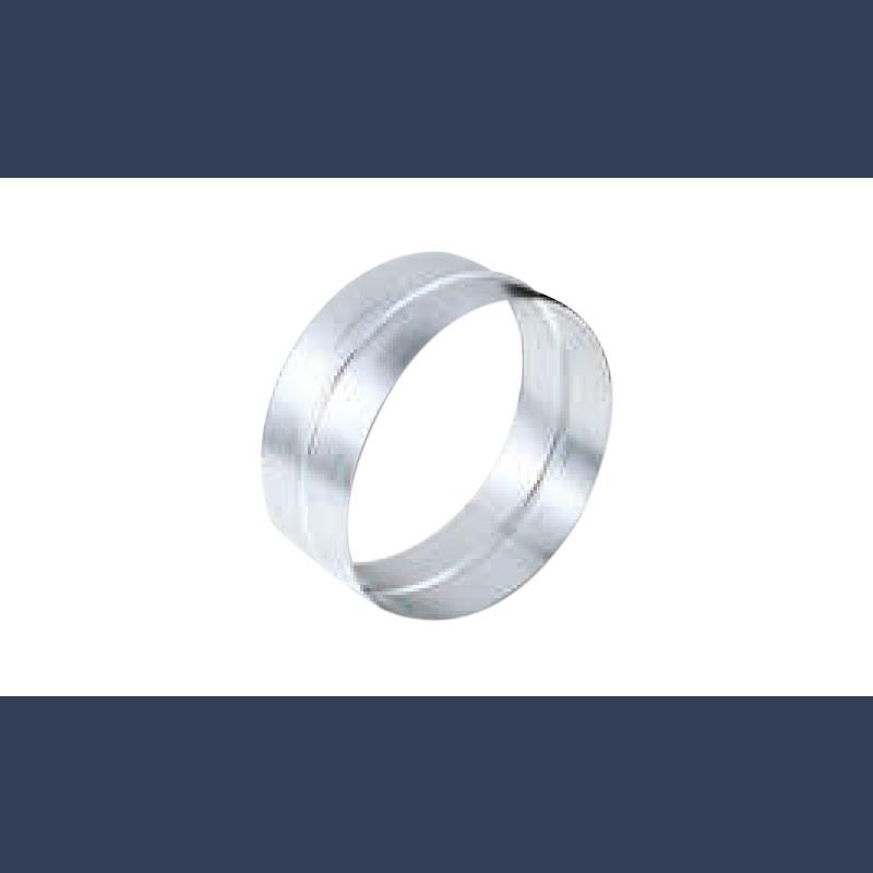 Connecteur circulaire mâle-femelle en acier galvanisé pour gaine de ventilation