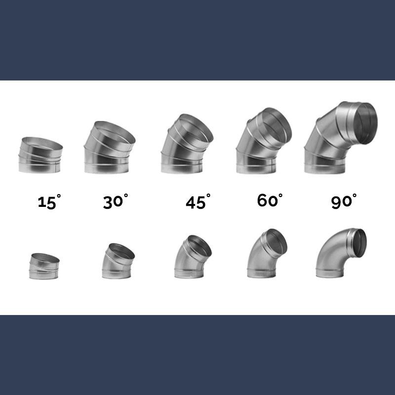 Coudes de ventilation circulaire en acier galvanisé