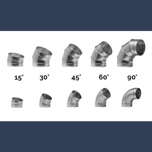 galvanized circular elbow ducts