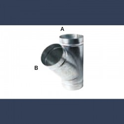 galvanized circular T-shaped connection duct 45°