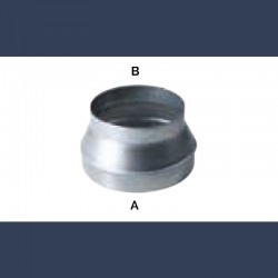 Réduction cylindrique concentrique acier galvanisé