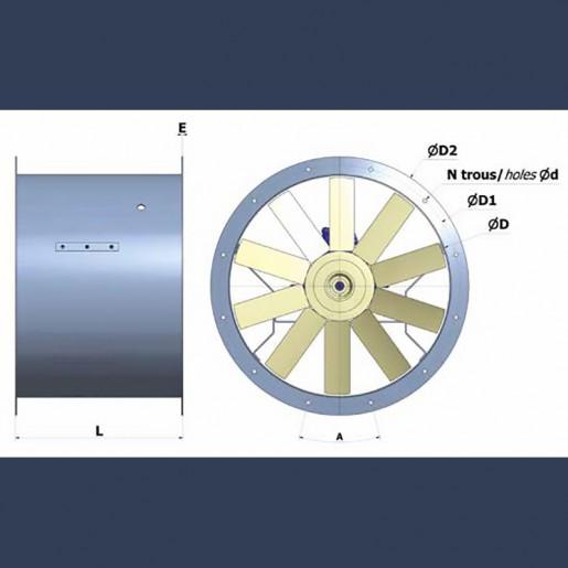 Axial fan Aeib HD1S type  sketch