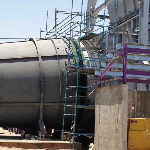 Compensateur de dilatation en tissu type courroie pour réseaux de tuyauteries pour fluides gazeux - in situ