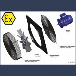 Axial fan Aeib EVXP type ATEX electrical box