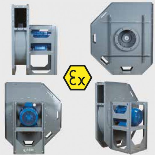 Centrifugal fan Aeib HPB type ATEX views