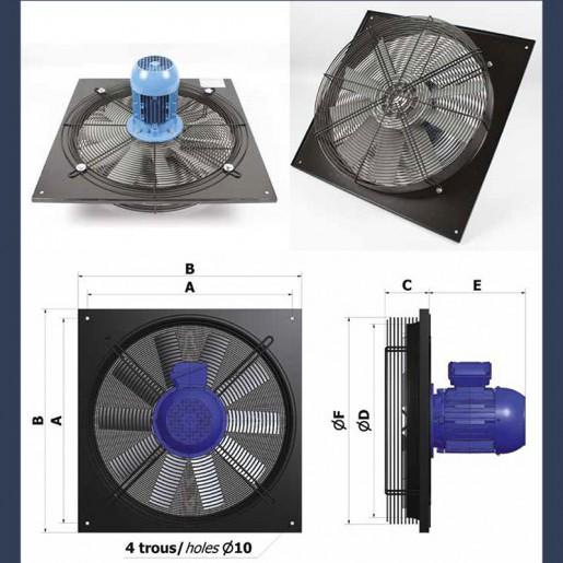 Axial fan Aeib EVXP type sketch