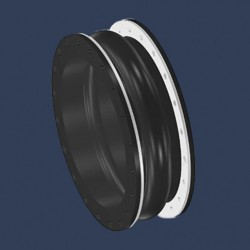 Rubber expansion joint integrated flanges - profile