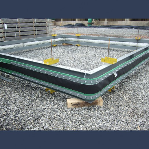 Rectangular fabric expansion joint belt type with bolster - manufacturing