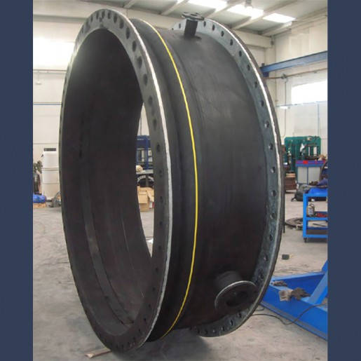Rubber expansion joint with integrated flanges for piping systems - manufacturing