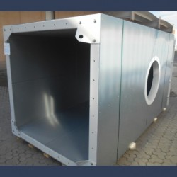 Insulated duct for combustion gas exhaust