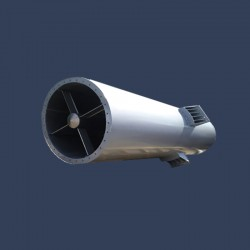 Boiler exhaust stack silencer