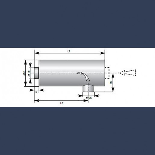 Engine exhaust silencer 40dBA - sketch