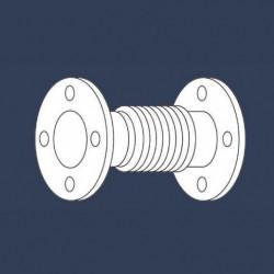 Compensateur de dilatation métallique axial - schéma