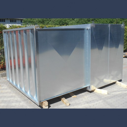 splitter silencer with soundproof casing Ornitolink