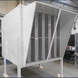 Silencieux d'aspiration à baffles pour ventilateur