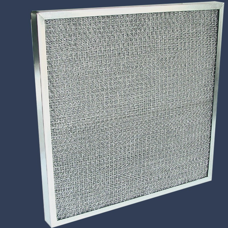Filtre plat média aluminium cadre galvanisé