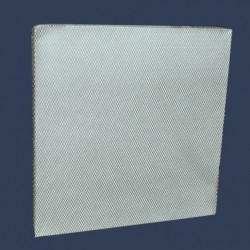 Glass fiber cell in aluminum mesh
