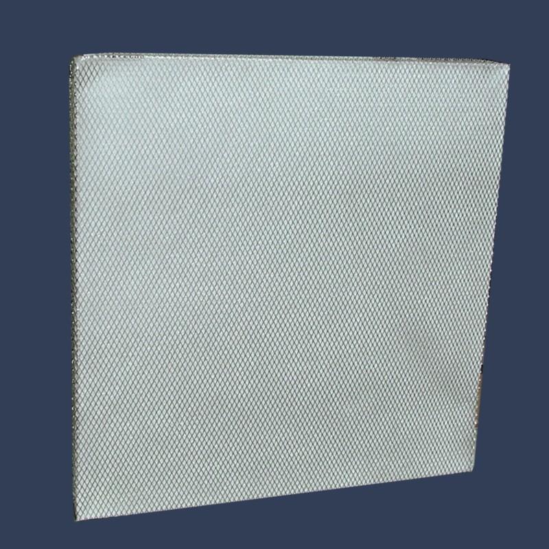 Média filtrant en fibre de verre avec grillage aluminium