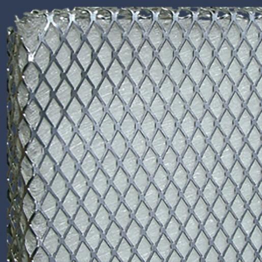 Média filtrant en fibre de verre avec grillage aluminium Zoom
