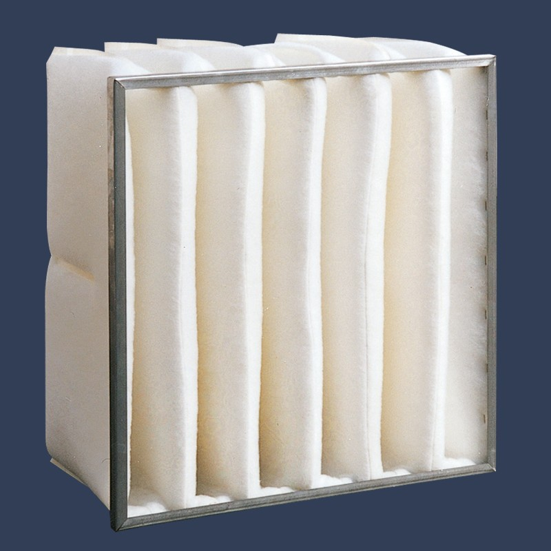 Polyester bag filter galvanized frame