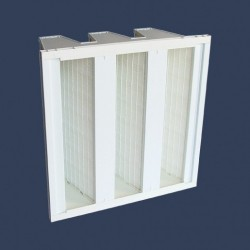Glass micro fiberrigid dihedral filter