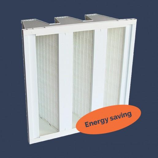 Filtre à dièdres économie d'énergie 3 sacs rigides