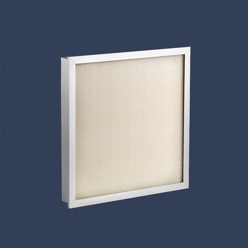 Flanged laminar filter H14