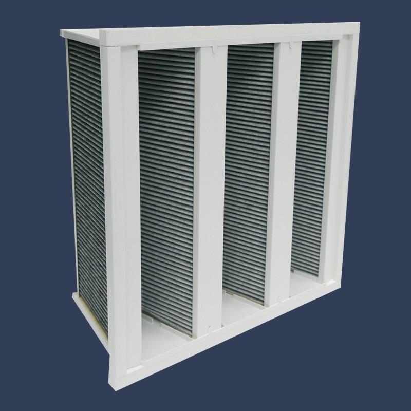 Carbon rigid bag filter
