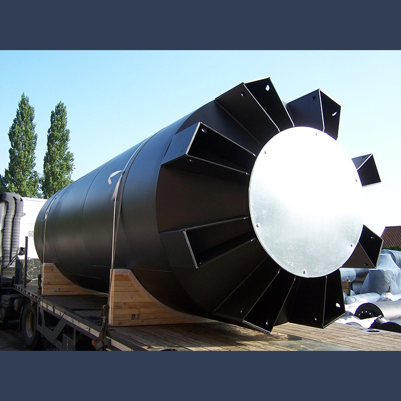 Ship engine exhaust silencer 35dBA