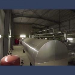 Silencieux cylindrique d'échappement 50dBA - in situ