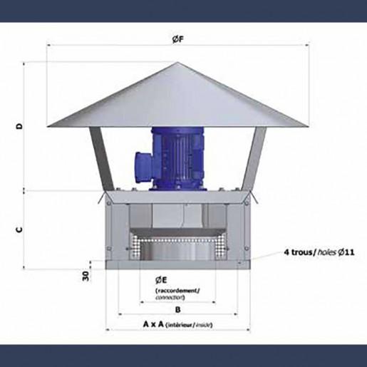 Tourelle centrifuge haute pression - schéma