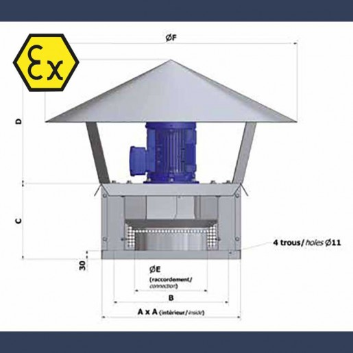 ATEX centrifugal turret - sketch