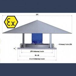 Tourelle d'extraction d'air hélicoide ATEX - schéma