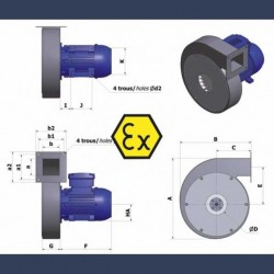 Centrifugal fan Aeib CAHP type ATEX details