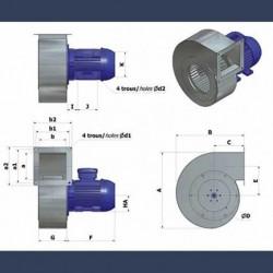 Ventilateur centrifuge bas débit basse pression HCAS - détails