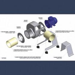 Ventilateur centrifuge bas débit basse pression HCAS - schéma