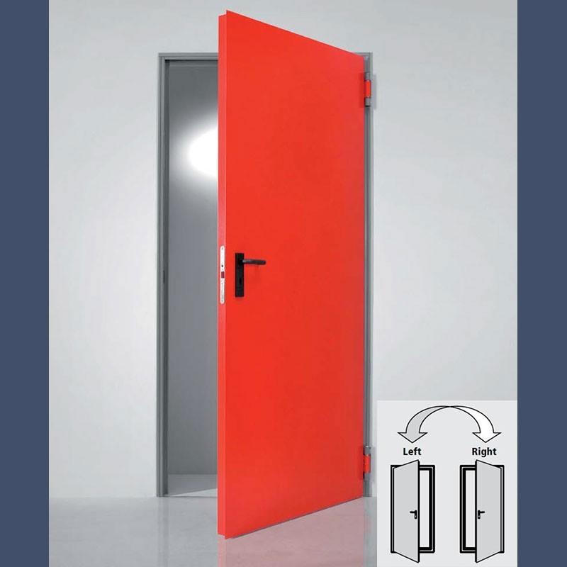 Porte métallique polyvalente isolée (réversible en version double vantail)