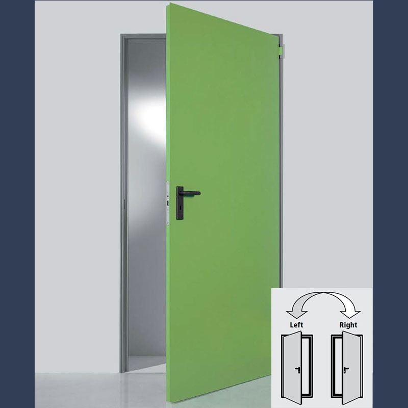 standard multipurpose door (single door variant has a reversible leaf)