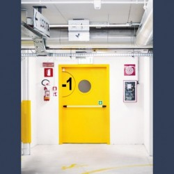 Heavy duty metal fire door EI2 60 (fire rating 1 hour)