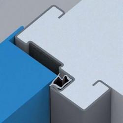 Détail bâti standard sur porte métallique coupe-feu haute résistance EI2 60