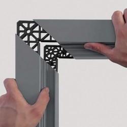 Détail renfort interne sur porte métallique coupe-feu haute résistance EI2 60