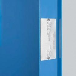 Marquage de classification au feu sur porte métallique coupe-feu haute résistance EI2 60