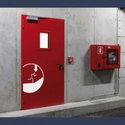 Heavy duty metal fire door EI2 120 (fire rating 2 hours)