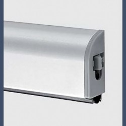 Automatic door sweep on the acoustic steel door Rw 36dB