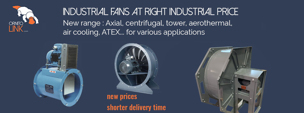 Wide choice of industrial fans